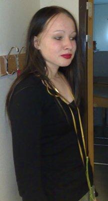 Frida på skolavslutningen 2009
