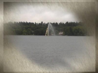 Mulen dag vid vattnet