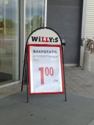 Willys stavar fel