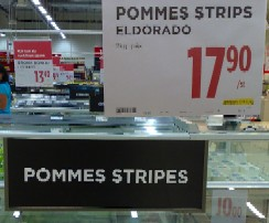 Pommes stripes