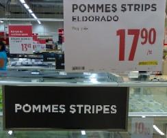 Pommes stripes