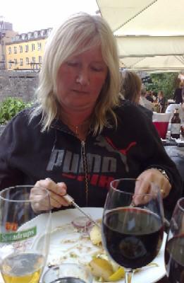 Anna på Tzatziki i aug 09