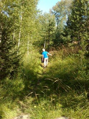 Elias på avstånd i skogen blogg