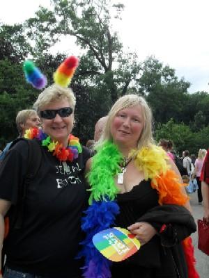 Ulrika och Anna på Pride bloggstlJPG
