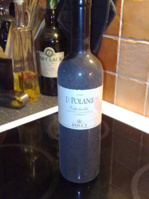 dammig vinflaska