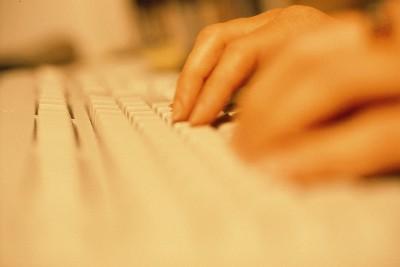 hand o tangentbord i färg