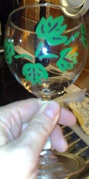 handmålat vinglas