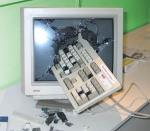 Kraschad datorskärm