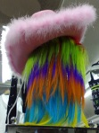 rosa hatt o regnbågshår