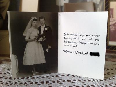 Mammas och pappas bröllopsfoto