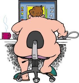 naken vid datorn
