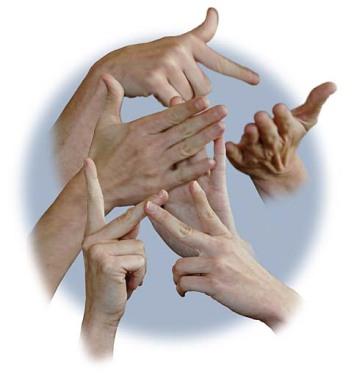 Händer som tecknar