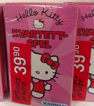 Kvartettspel Hello Kitty