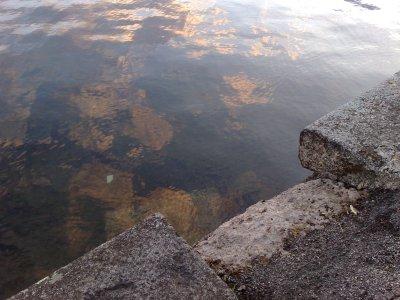 trappa ner till sjön