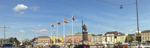 Gustaf III o regnbågsflaggorna