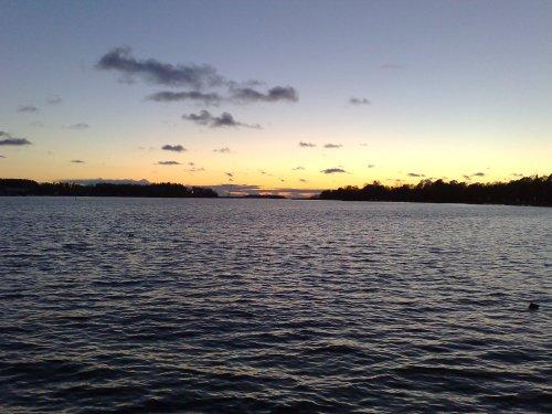 Solnedgång vid Vättern