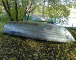 Båten upplagd på land