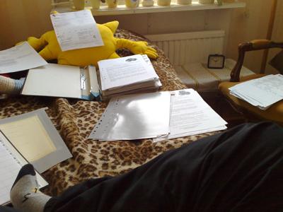 pappersarbete hemma