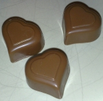 tre chokladhjärtan