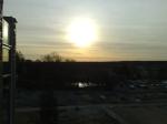 morgonsol från jobbets balle