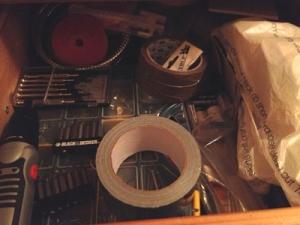 diverse verktyg tejp