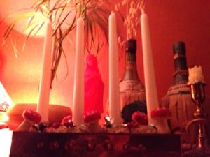 adventsljusstake i koppar för stearinljus