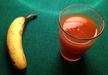Middag banan o nyponsoppa