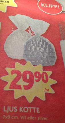 annons särskrivning ljus kotte