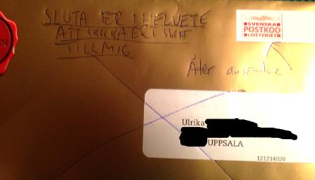 brev från Postkodlotteriet