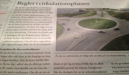 Regler i cirkulationsplatsen