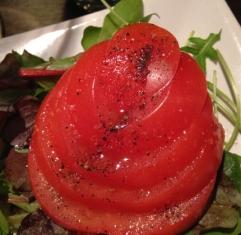 Tomater och grönt