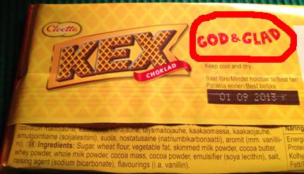 Kexchoklad god och glad