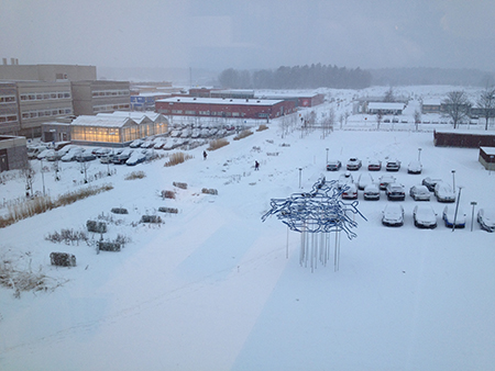 utsikt från femte våningen