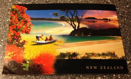 Vykort fr New Zealand