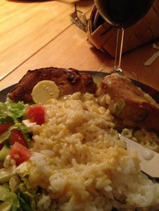 kyckling m ris currysås o grönsaker