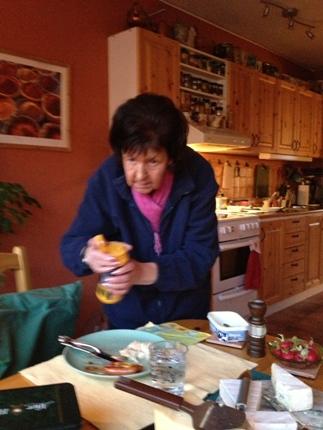 Mamma med senapen i högsta hugg