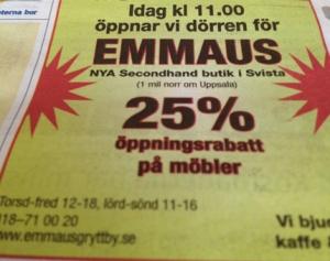 Nya Emmaus annons