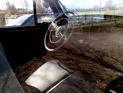 Inuti en gammal Volvo