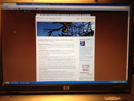 Laptopens skärm