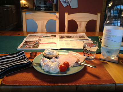 middag med tidning