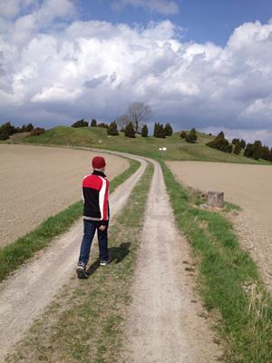 E på väg mot gravarna