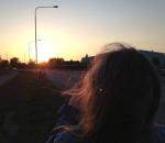 Anna i solnedgången