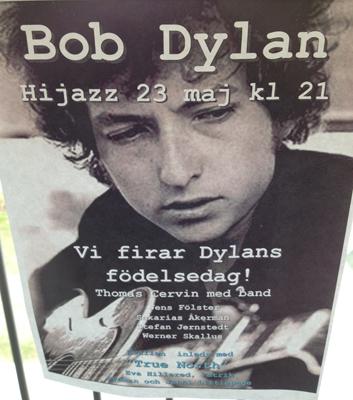 Bob Dylan firas av Thomas Cervin med band