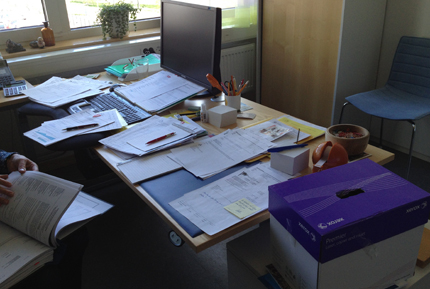 Inte papperslöst kontor
