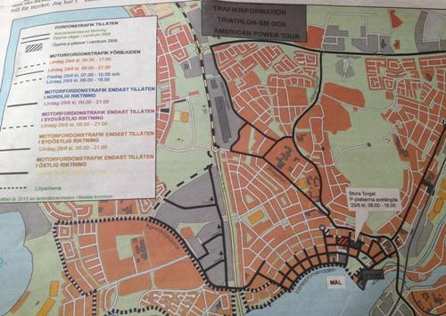 Karta avstängning i stan