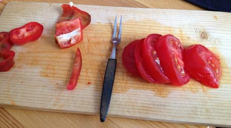 paprika liten gaffel tomat