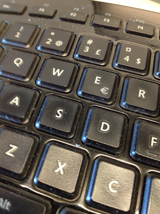 Svart tangentbord