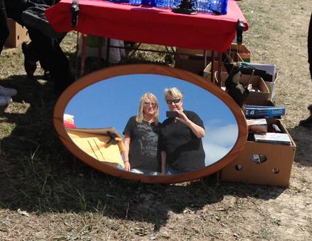 Anna och jag i spegeln