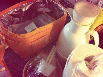 Picknickförberedelser