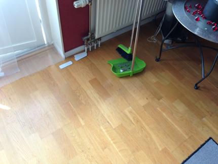 Tomt golv hos Anna